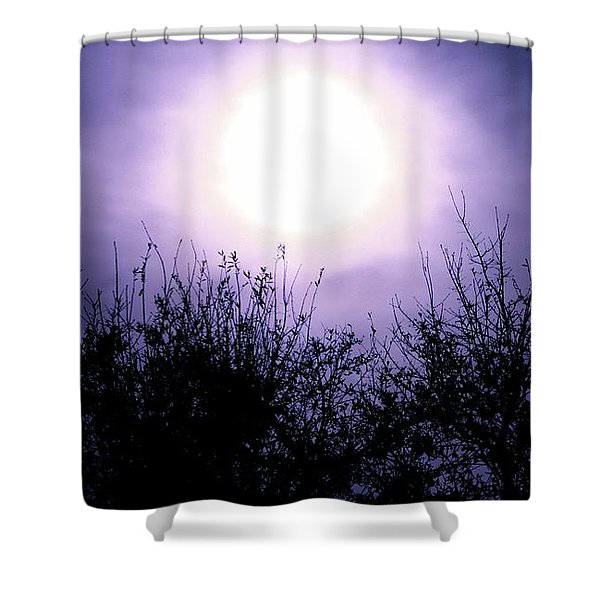 Purple Eclipse Shower Curtain