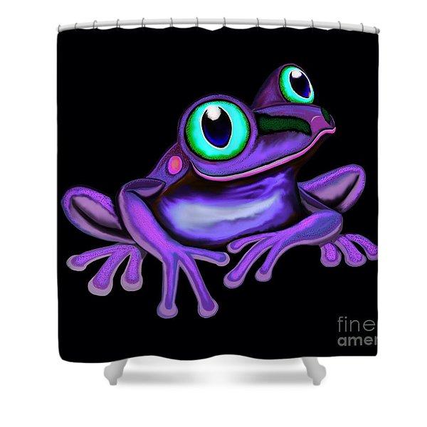 Purple Frog  Shower Curtain