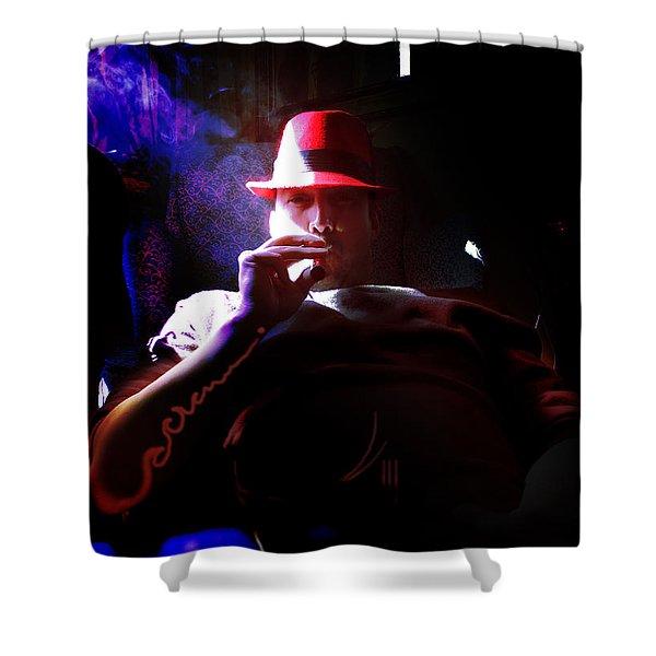 Purple Haze Boss  Shower Curtain