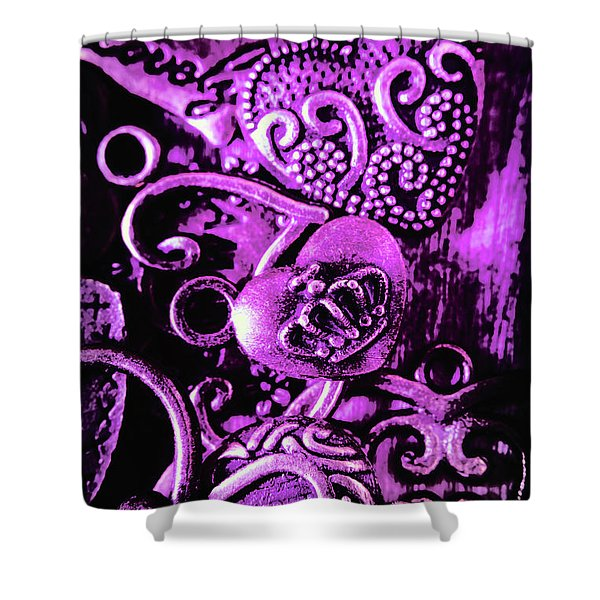 Purple Heart Collection Shower Curtain