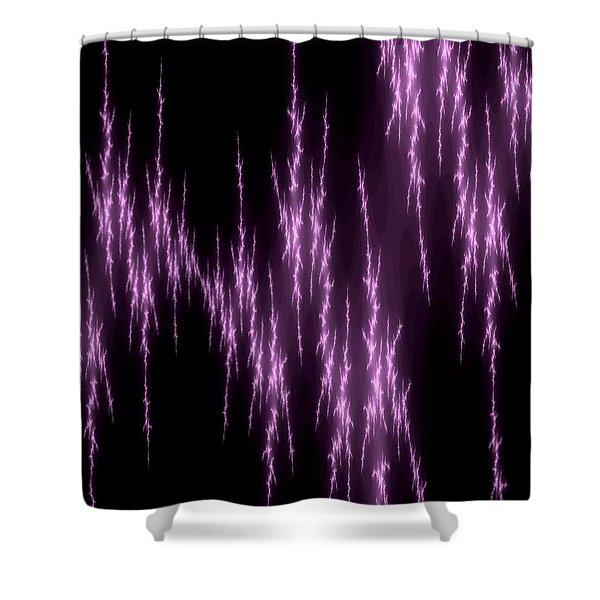 Purple Lightening Shower Curtain