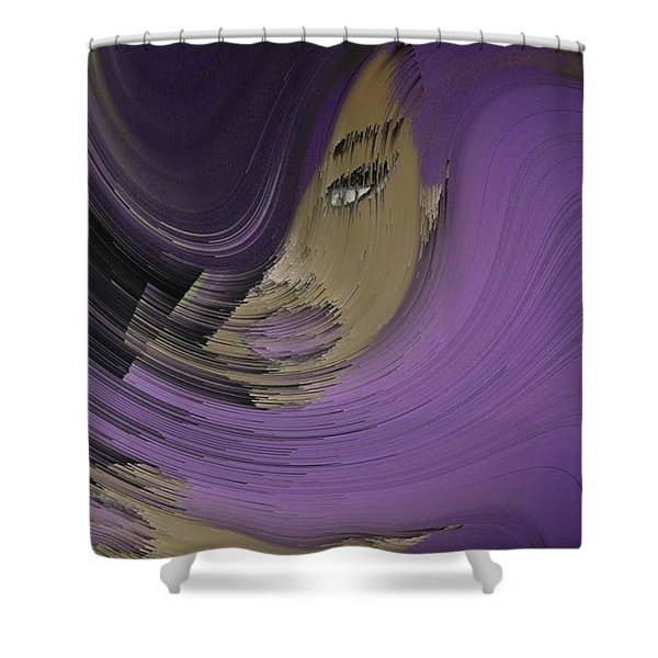 'purple Love '  Shower Curtain