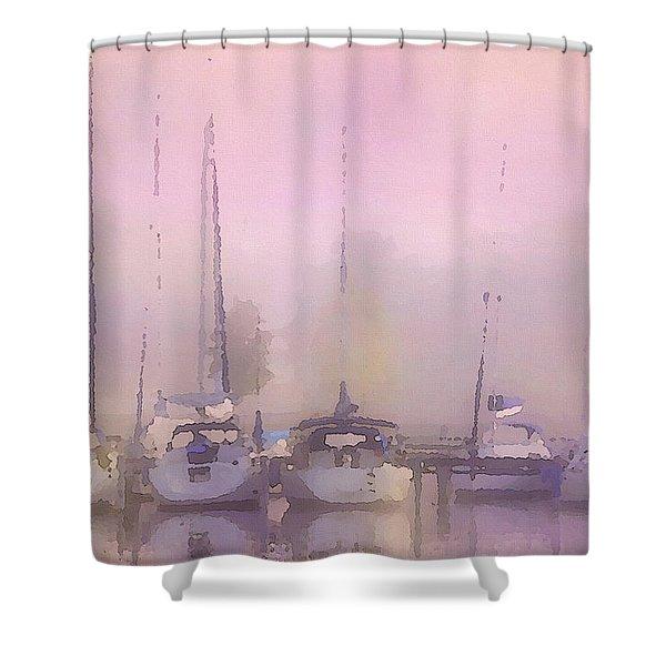 Purple Marina Morning Shower Curtain