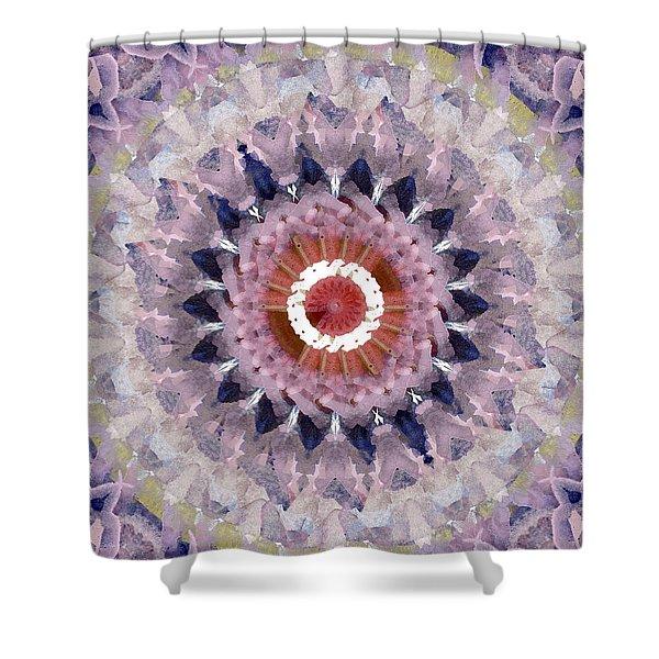 Purple Mosaic Mandala - Abstract Art By Linda Woods Shower Curtain