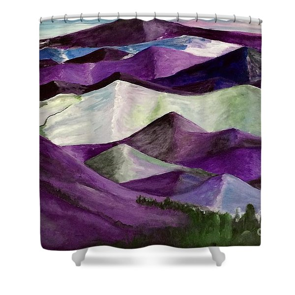 Purple Mountains Majesty Shower Curtain