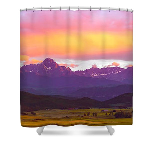 Purple Mountains Panorama Shower Curtain