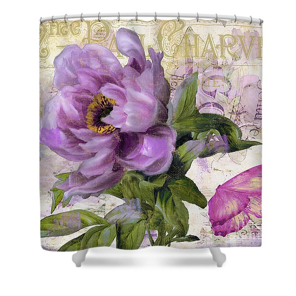 Purple Peony Shower Curtain