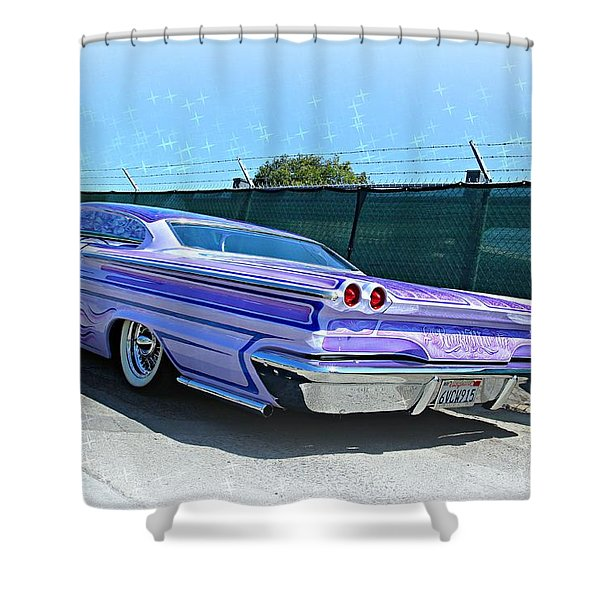 Purple Pontiac Perfection Shower Curtain