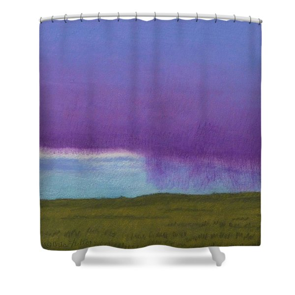 Shower Curtain featuring the painting Purple Rain by Cris Fulton