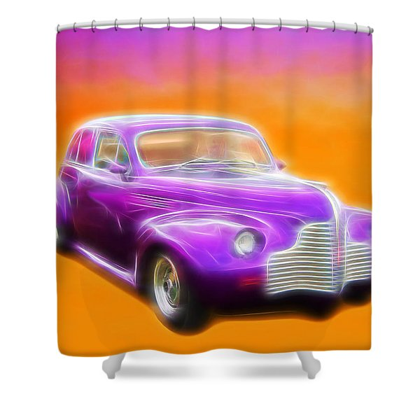 Purple Shadow Cruiser Shower Curtain