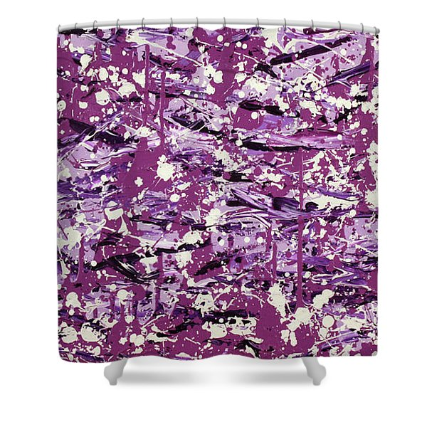 Purple Splatter Shower Curtain