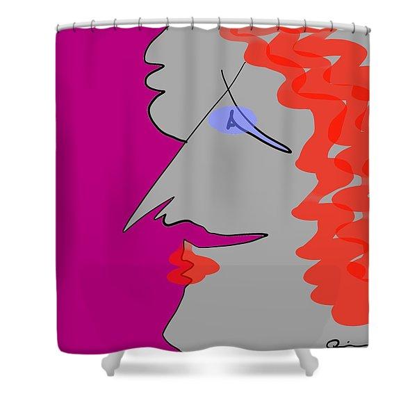 Purple Stache Shower Curtain