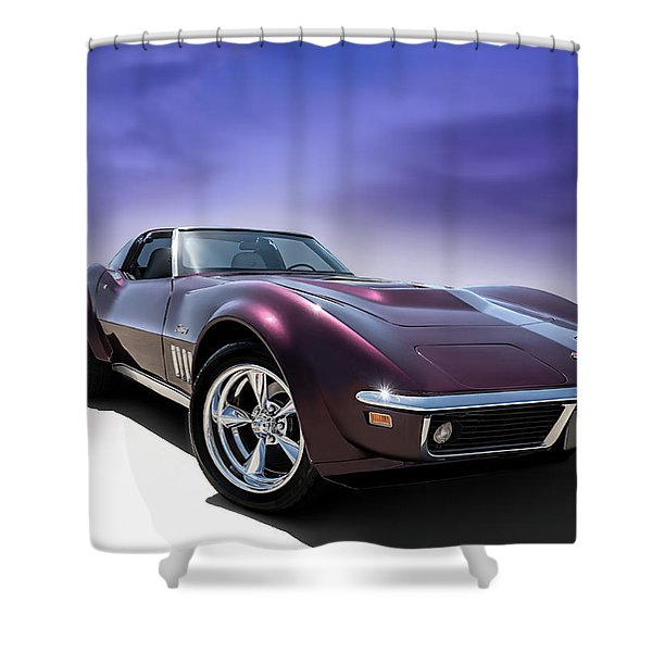 Purple Stinger Shower Curtain