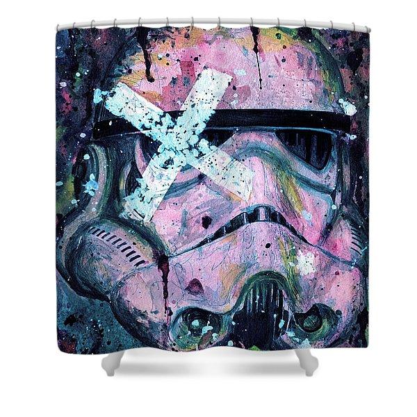 Purple Stormtrooper Shower Curtain