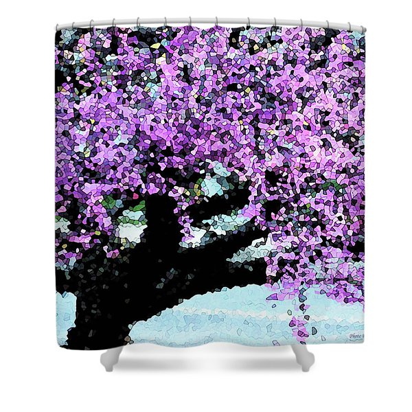 Purple Tree Shower Curtain