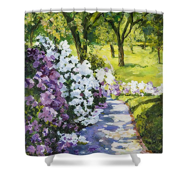 Purple White Shower Curtain