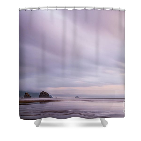 Purple Wisp In The Morning Shower Curtain