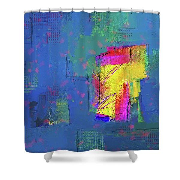 Purplish Rain Shower Curtain