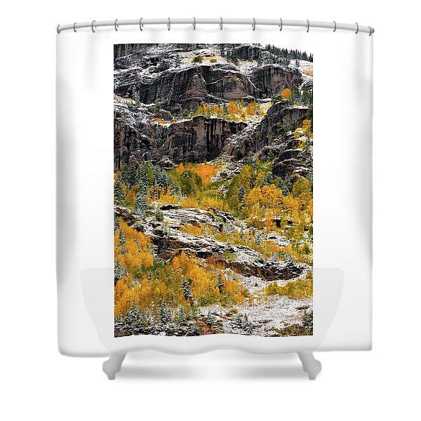 Push Starting Winter Shower Curtain