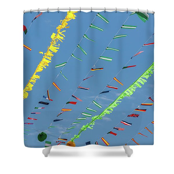 Put The Flags Out Shower Curtain