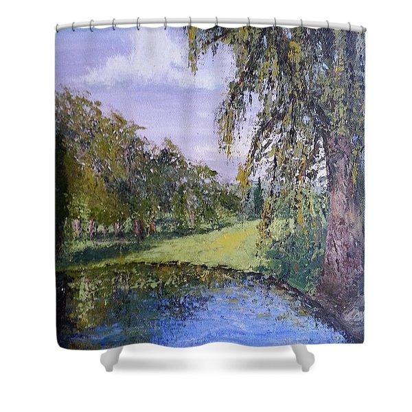 Putting Green Pond Shower Curtain