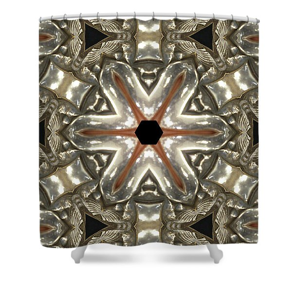 Puzzle In Taupes Shower Curtain