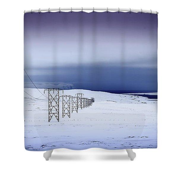Pylons, Iceland Shower Curtain