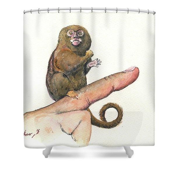 Pympy Marmoset Shower Curtain