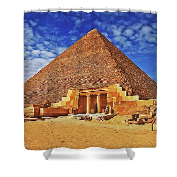 Pyramid Shower Curtain