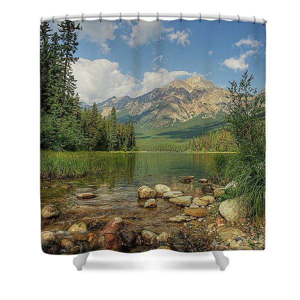 Pyramid Mountain Shower Curtain