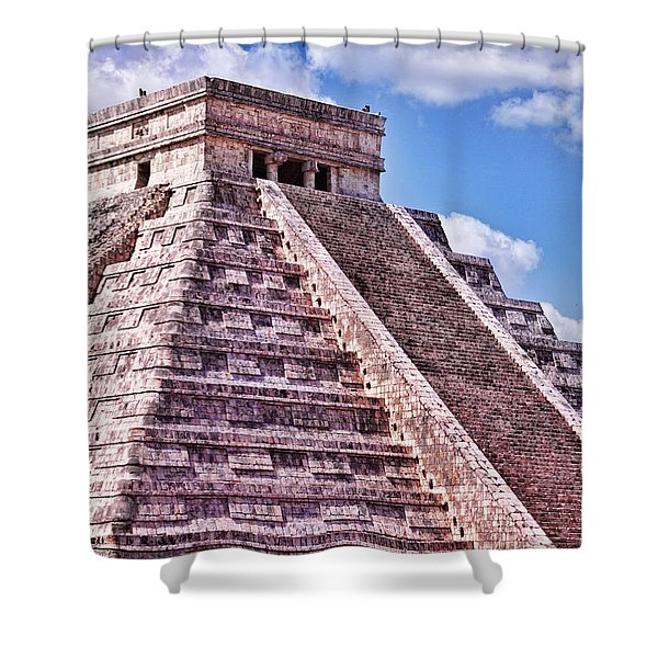 Pyramid Of Kukulcan At Chichen Itza Shower Curtain