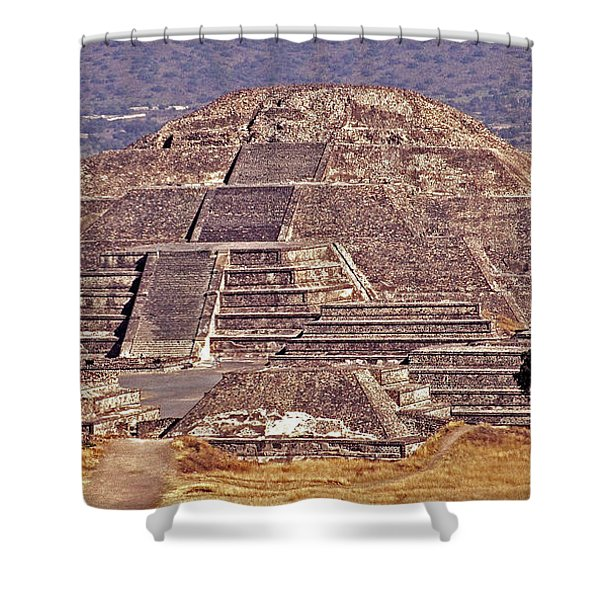Pyramid Of The Sun - Teotihuacan Shower Curtain