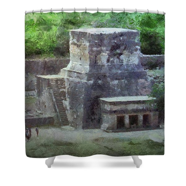 Pyramid View Shower Curtain