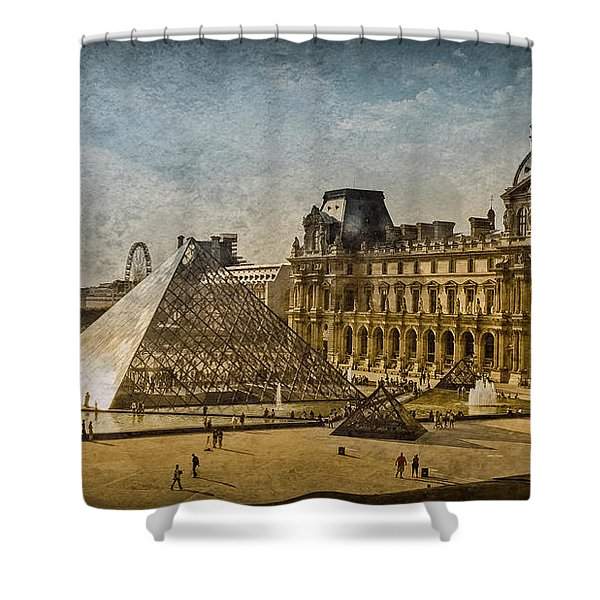 Paris, France - Pyramide Shower Curtain