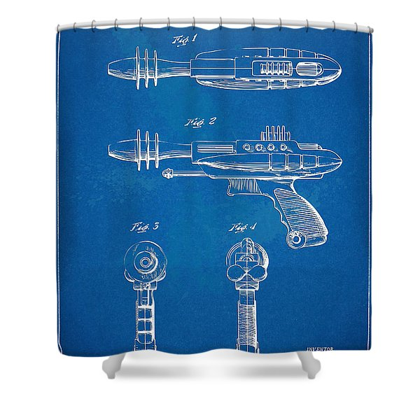 Pyrotomic Disintegrator Pistol Patent Shower Curtain