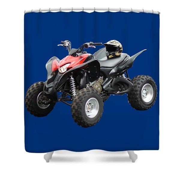 Quad Bike And Helmet Shower Curtain