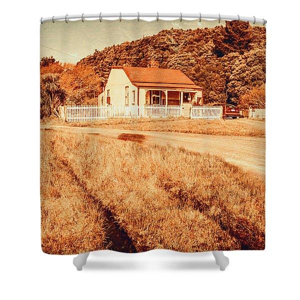 Quaint Country Cottage Shower Curtain