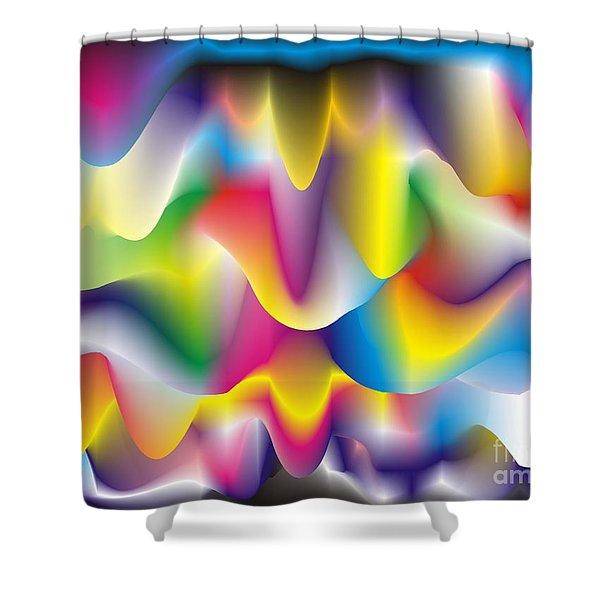 Quantum Landscape 1 Shower Curtain