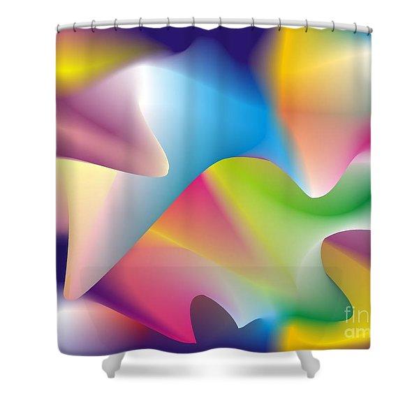 Quantum Landscape 2 Shower Curtain