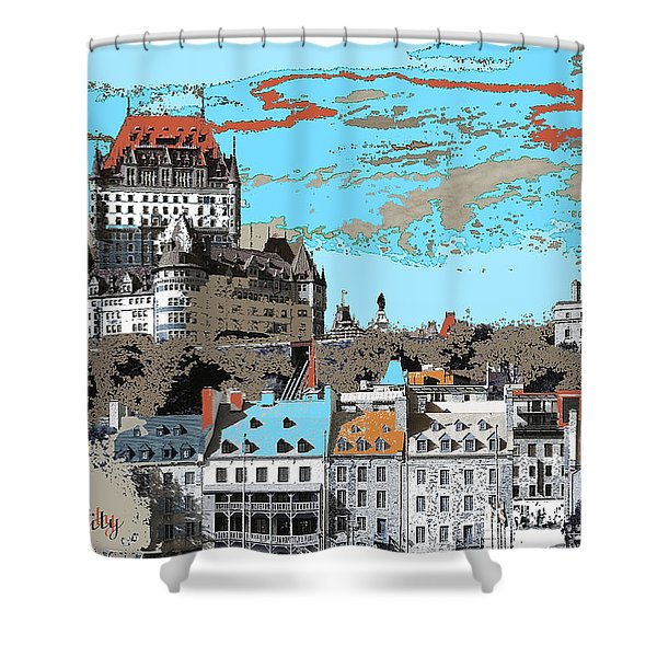 Quebec City Canada Poster Shower Curtain