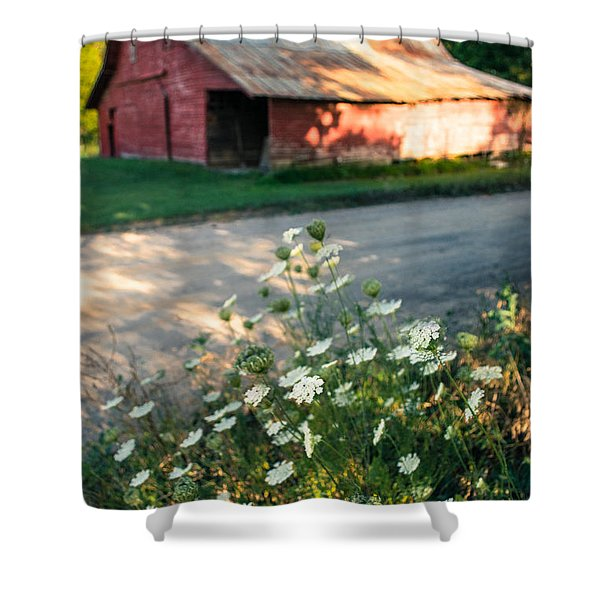 Queen Anne's Lace By The Barn Shower Curtain