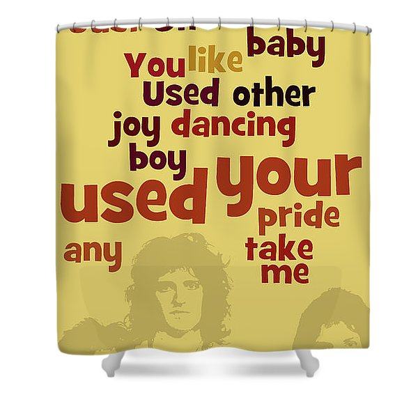 Queen. Can You Order The Lyrics? Dreamers Ball. Shower Curtain