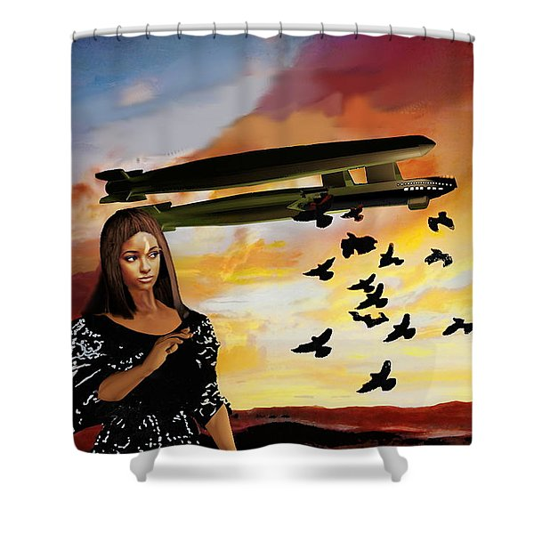 Queen Of Crows Sketch Shower Curtain