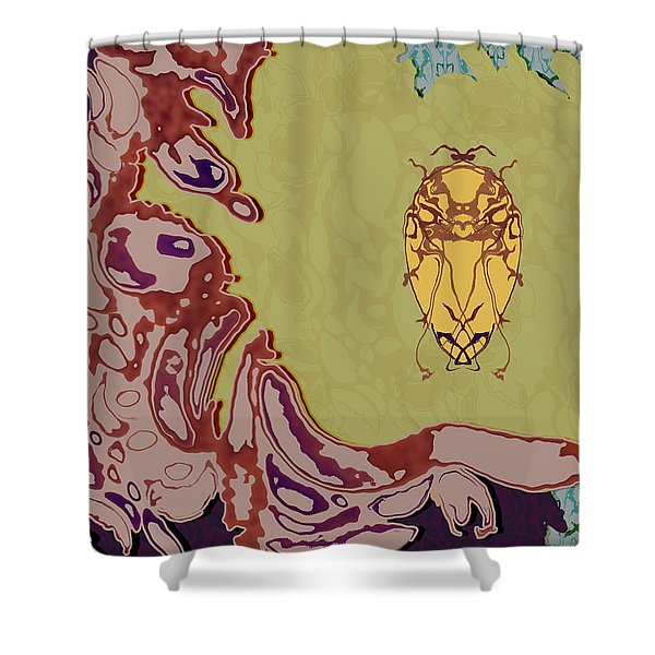 Queen Scarab Shower Curtain
