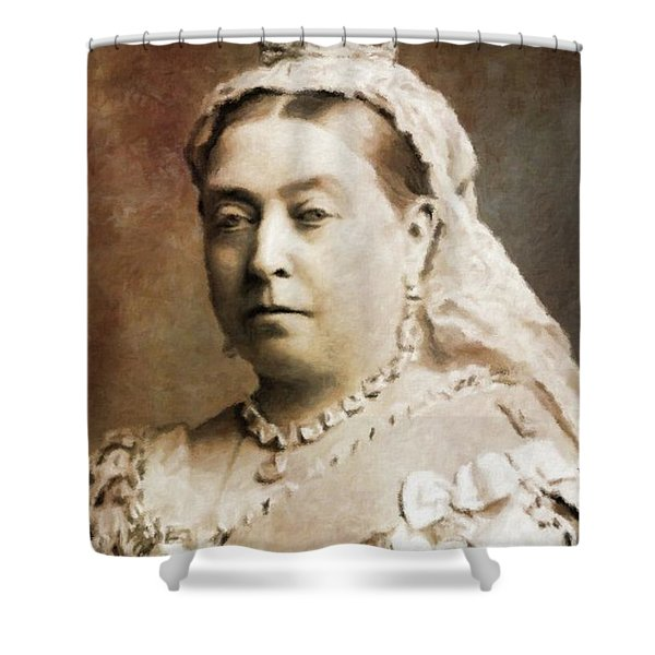 Queen Victoria, History Portraits By Mary Bassett Shower Curtain