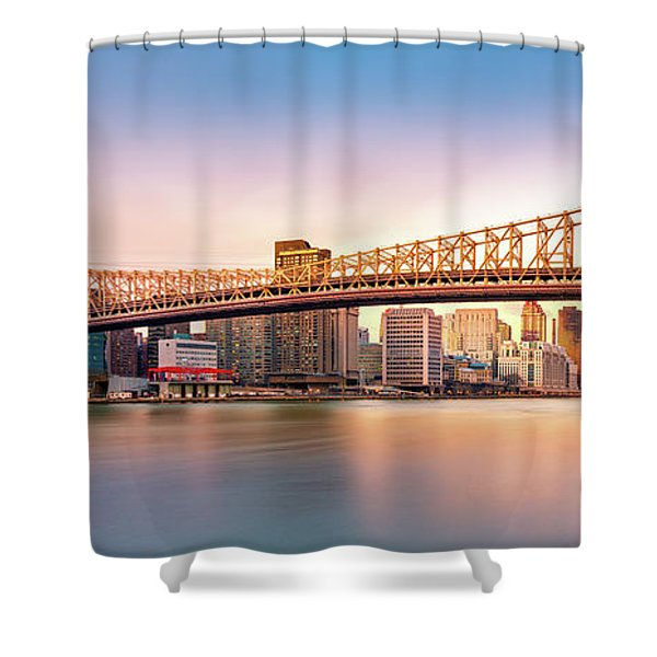 Queensboro Bridge At Sunset Shower Curtain