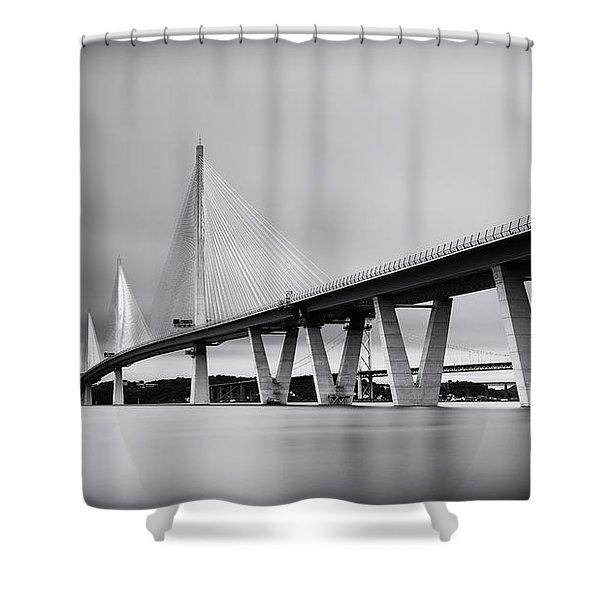 Queensferry Crossing Bridge Mono Shower Curtain