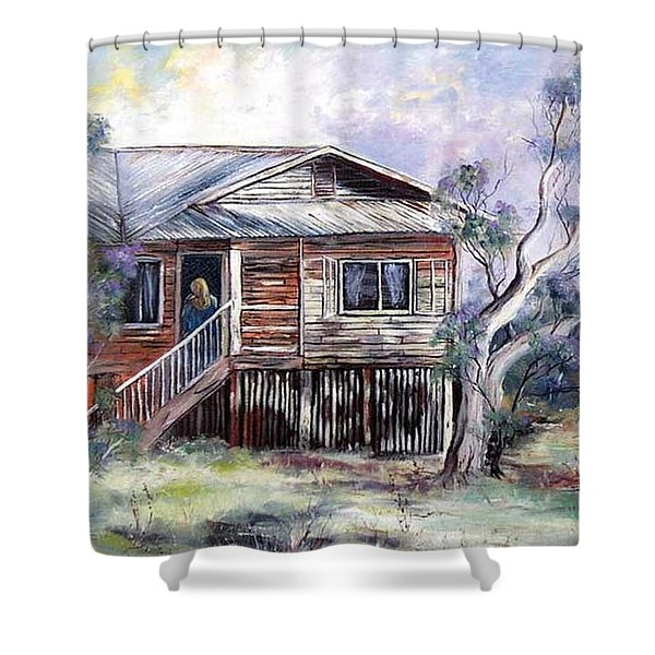 Queenslander Style House, Cloncurry. Shower Curtain