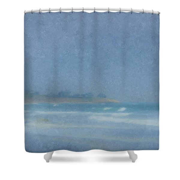 Foggy Afternoon At Little Compton Ri Shower Curtain
