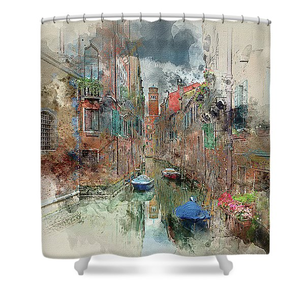 Quiet Morning In Venice Shower Curtain
